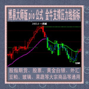 博易大师/支撑压力线指标/金牛公式/黄金白银/股指期货/股票/智胜