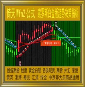 倚天/索罗斯白金版趋势决策指标/wfn2公式/现货黄金白银/商品期货