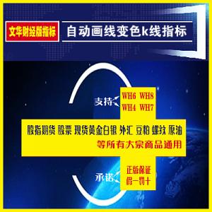 文华财经自动画线变色k线指标炒股黄金白银商品期货
