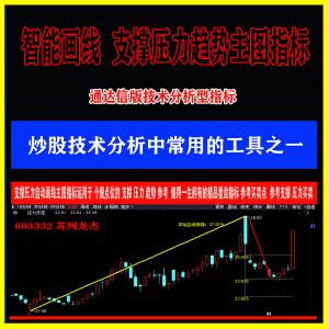 湘149.通达信版支撑压力智能画线主图指标  用于个股的支撑压力趋势买卖 值得一生佣有的精品看盘指标 参考买卖点公式